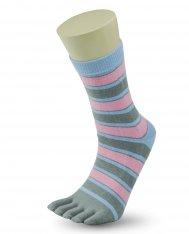 d89f5cc315c dámské prstové ponožky s módními proužky - šedé DMP02A