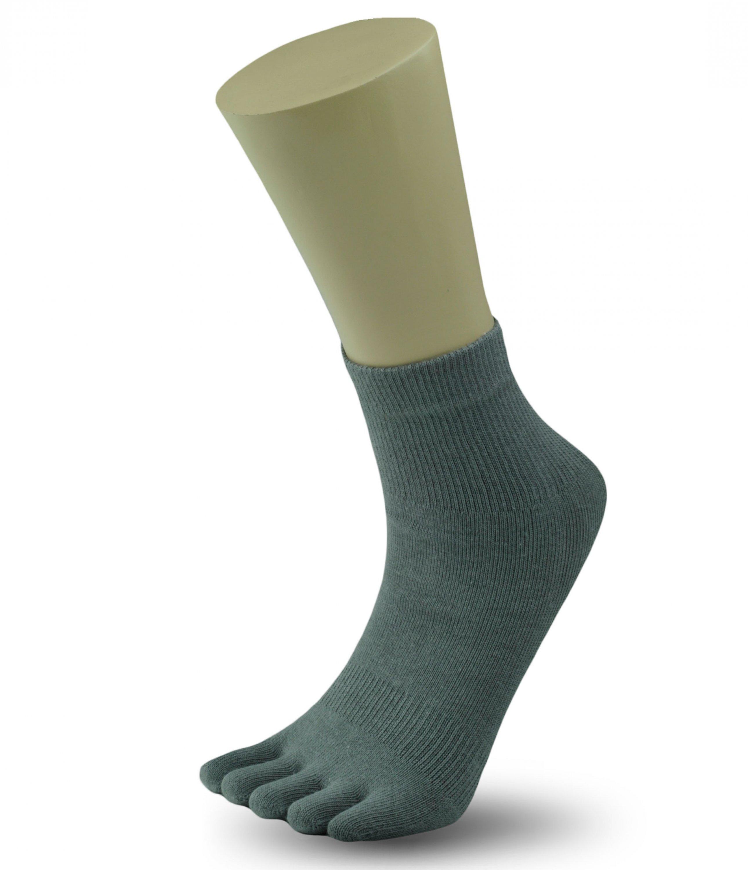 a1253ebb6fa Dětské prstové ponožky - šedé  JS03